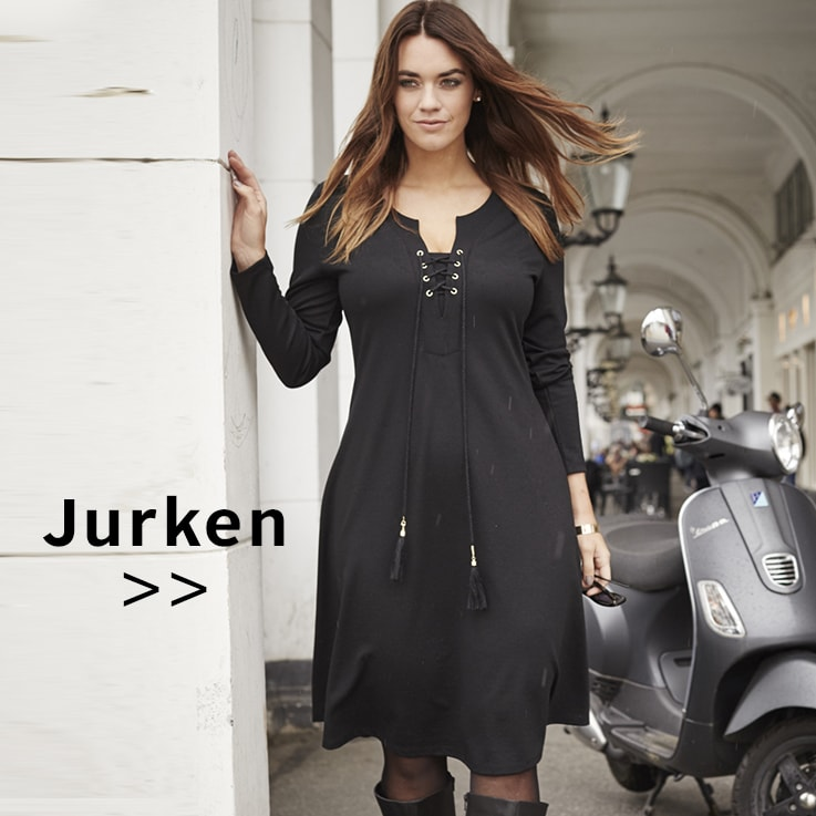 Maxi jurk zwart grote maat